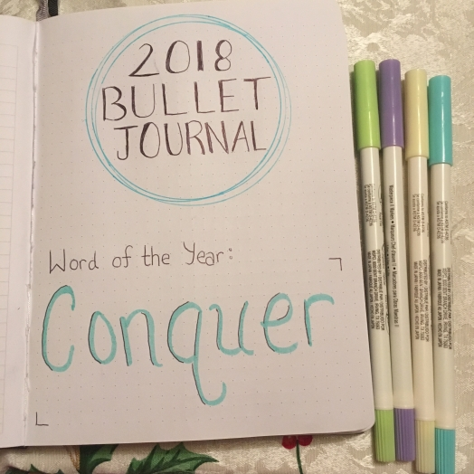2018 Bujo Cover Page