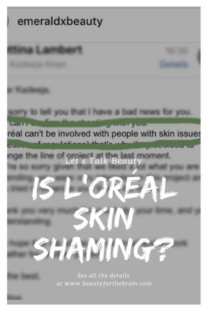 is loreal skin shaming