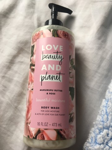 lbp body wash rose