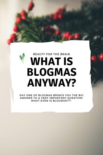 Blogmas Day One Blog Graphic - Pinterest