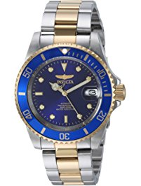 Invicta Men's Blue and Gold Divers Watch $84.98