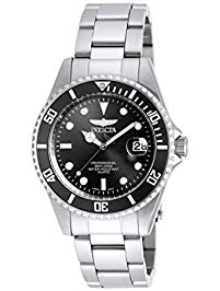 Invicta Silver and Black Divers Watch $49.06